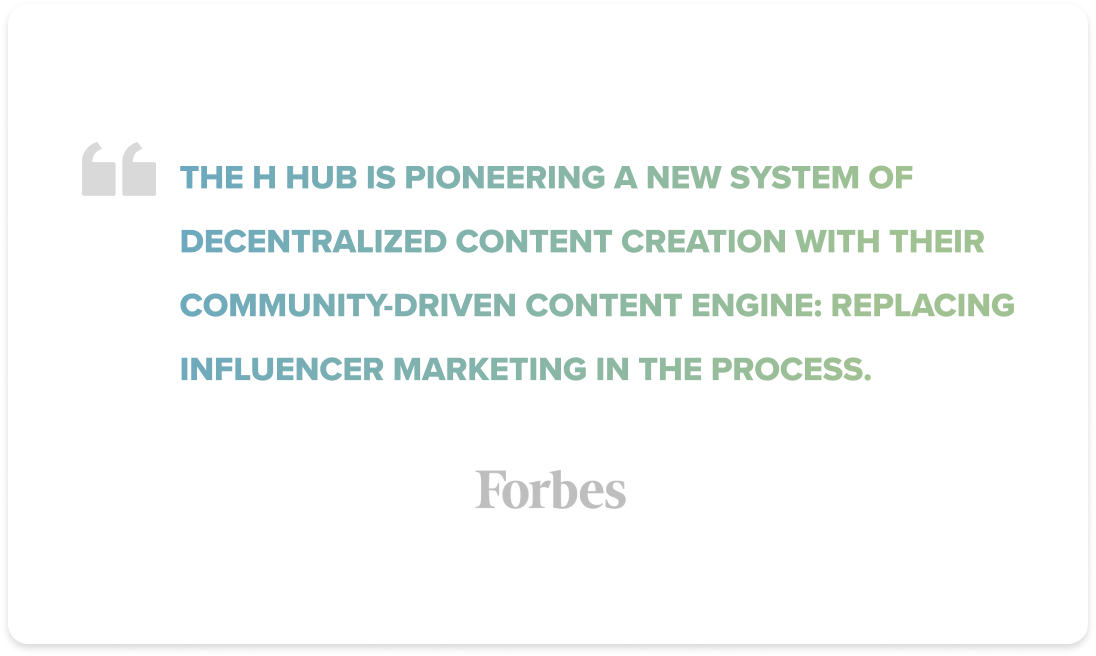Forbes Quote about The H Hub